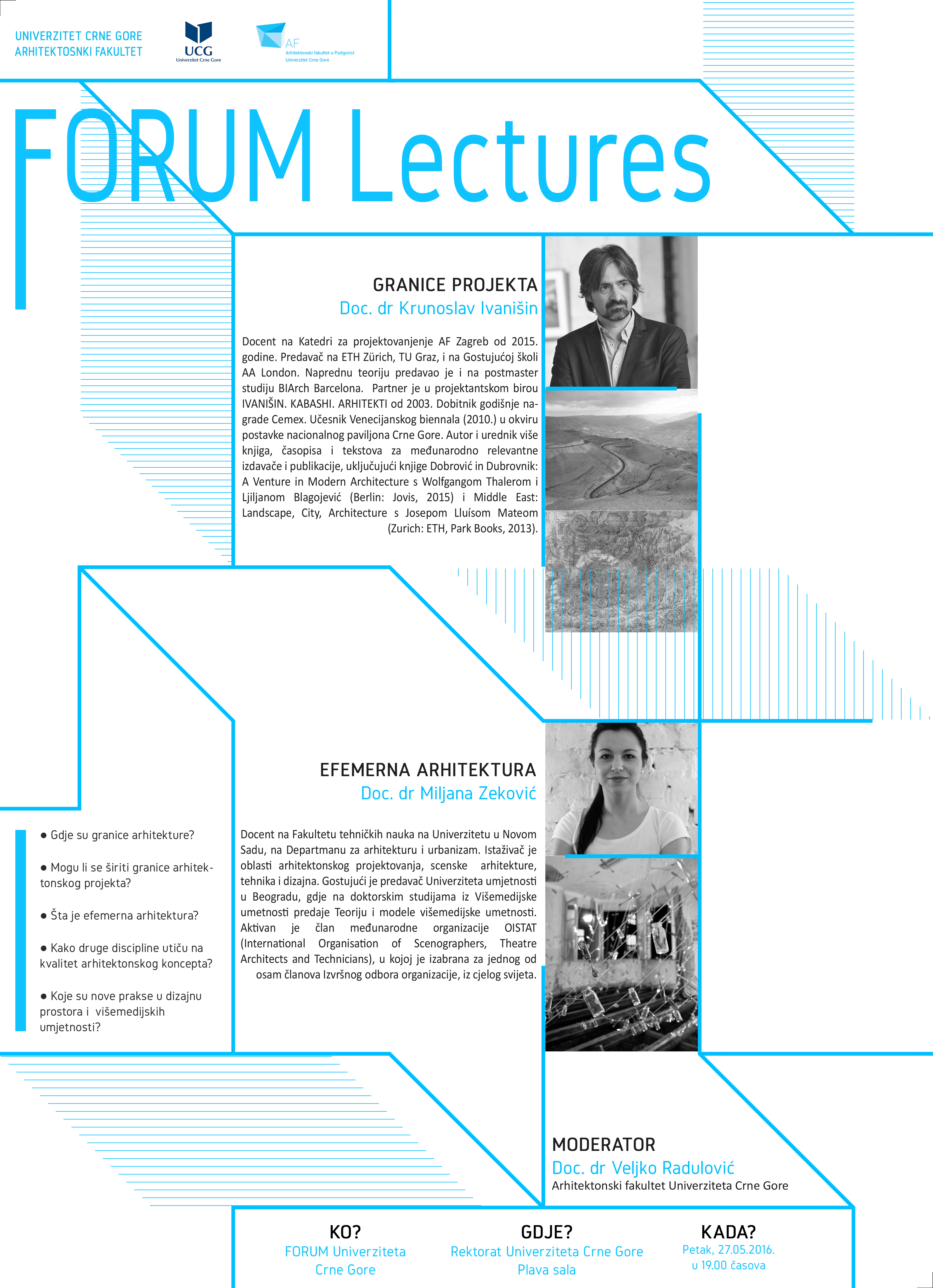 FORUM Lectures – 27.05.2016.